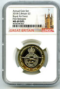 2018 Great Britain 2pnd Ngc Ms69 Dpl Royal Air Force First Releases Pop Only 2