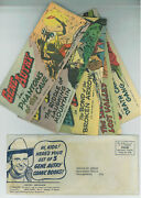 Gene Autry Quaker Oats Set Of 5 Give Away Comics And Rare Intact Envelope 1950