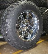 20x10 Fuel D530 Hostage Chrome 35 Mt Wheel And Tire Package 5x5.5 Dodge Ram 1500