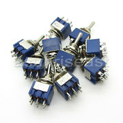 100 X Mini Toggle Switch Dpdt On-off-on 3 Position Blue 6a 125v 3a 250v Mts-203