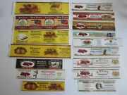 Lot Of 16 Old 1920's - Pimiento - Fig - Can Labels - Calvert Litho - Sample File
