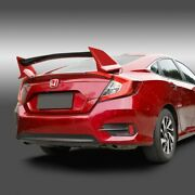Fit 2016-2020 Civic Carbon Fiber Factory Painted Red Trunk Type-r Style Spoiler