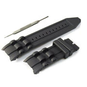 26mm Black Silicone Watch Strap Band Fits For Pro Diver W/ Tool