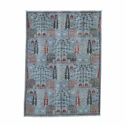 5'1x7' Peshawar Willow And Cypress Tree Design Hand-knotted Oriental R43548