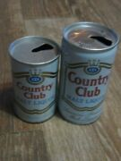 2 Pcs Vintage Used Xxx Country Club Malt Liquor Metal Can Empty Beer Can