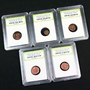 5 Slabbed Ancient Constantine The Great Coins C330 Ad