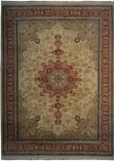 Authentic Wool Rnr-9779 8and039 8 X 12and039 3 Persian Tebriz Rug