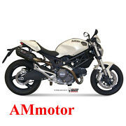 Mivv Ducati Monster 696 2010 10 Suono Black Exhaust Silencers For Motorcycle