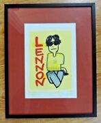 John Lennon Framed Lithograph Limited Only 100 Signed By Artist 10.75 X 13.5