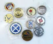Lot Of 10 Military Challenge Coin Misc. Units And Branches C2210