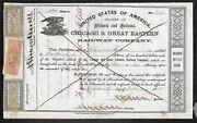 Stock - Chicago And Great Eastern Rw Co. - Illinois And Indiana - 1865