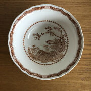 Furnivals Quail Brown Birds Flowers Band Round Vegetable Serving Bowl 8 3/ 8