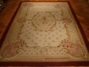 Needlepoint Rug 10x14 Wool New Original Hand Woven Special Inventory Clearance