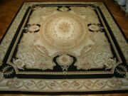 Handmade Rug 12x15 Ivory Aubusson Wool Classic Luxurious Traditional Design Rug