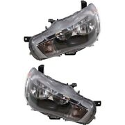 Headlight Set For 2010-2013 Mitsubishi Outlander Left And Right With Bulb 2pc