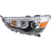 Headlight For 2011-2018 Mitsubishi Outlander Sport Left With Bulb Capa