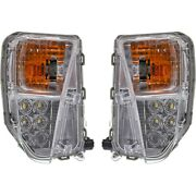 Turn Signal Light For 2010-15 Toyota Prius Plastic Lh And Rh W/ Drl Set Of 2 Capa