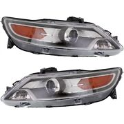 Headlight Set For 2010-2012 Ford Taurus Sho Models Left And Right With Bulb 2pc