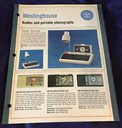 Dl0133 Vtg Westinghouse Radios And Portable Phonographs Store Catalog Ad 1966