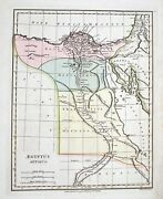 Old Antique Map Agyptus Antiqua Egypt Middle East C1796 By Wilkinson / Baker