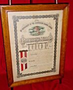 Ioof Independent Order Odd Fellows Patriarchs Militant Certificate Reading Pa