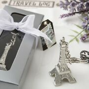 70 Eiffel Tower Silver Metal Key Chain Wedding Bridal Shower Party Favors