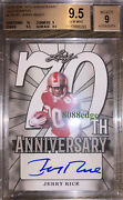 2018 Leaf 70th Anniversary Auto Jerry Rice 1/1 Of Autograph Bgs 9.5 Gem Mint