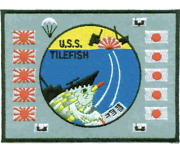 4.875 Navy Uss Ss-307 Tilefish Embroidered Patch