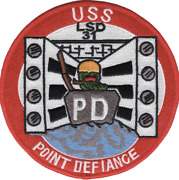 5 Navy Uss Lsd-31 Point Defiance Embroidered Patch