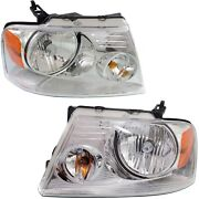 Headlight Set For 2004-08 Ford F-150 2006 Lincoln Mark Lt Left And Right Capa 2pc