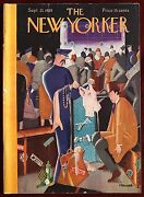 The New Yorker Magazine September 21, 1929 Haupt Agent Checking Luggage