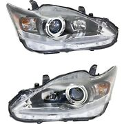 Headlight Set For 2011-2017 Lexus Ct200h Left And Right With Bulb Capa 2pc