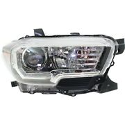 Headlight For 2016-2018 Toyota Tacoma Passenger Side With Led Drl Capa