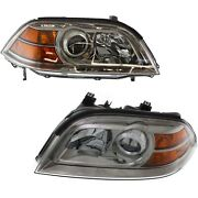 Headlights Headlamps Left And Right Pair Set New For 04-06 Acura Mdx