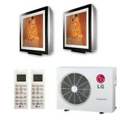 Lg Art Cool Gallery Wall Mounted 2-zone System - 18000 Btu Outdoor - 9k + 9k...