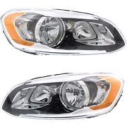 Headlight Set For 2014-2017 Volvo Xc60 Left And Right With Bulb Capa 2pc