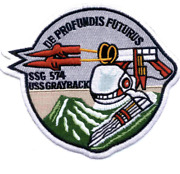 5.5 Uss Ssg-574 Grayback Embroidered Patch