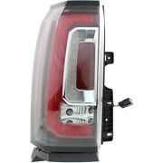 Tail Light For 2015-2020 Gmc Yukon Xl Sle Left With Bulb Clear And Red Lens