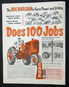 Original 1952 Case Tractor Ad Case Vac The Big Bargain That Does 100 Jobs