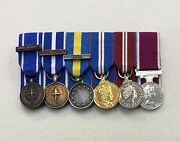 Court Mounted Miniature Medals, Ifor, Kfor, Althea, Golden And Diamond Jub, Lsgc