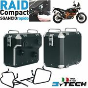 Pair Suitcases Aluminum Compact Quick 33+ 39+ Frames Ktm 1190 Adv Abs And039 13and039/14