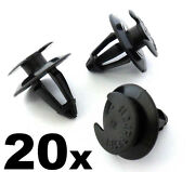 20x Vw Plastic Interior Trim Clips For Door Card Mouldings Panels And Boot Linings