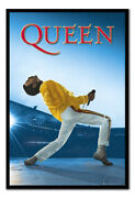 Framed Freddie Mercury Queen At Wembley Poster New