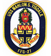 5 Navy Uss Ffg-27 Mahlon S Tisdale Embroidered Patch