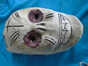 Vintage Day Of The Dead Mask Hand Painted Paper Mache