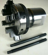 4-jaw X 3 Self-centering Lathe Scroll Chuck 1-8 + 1-1/4 X 8 Spindle Adapter New