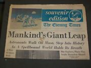 1969 July 21 The Evening Times Newspaper - Men Walk On The Moon - Np 3216