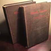 English Men Of Letters 1st Edition Hard Cloth Cover Vol 1 And 2 Literary Bios 1878