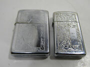 2 Old Cigarette Zippo Lighters Big And Small Initials Bfs Collectiable Used