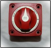 Blue Sea Systems 300 Amp M-series Battery Switches Red On-off W/knob 6006 48v Dc